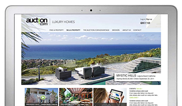 Campaign launching Auction.com's luxury home division targeted both B2B (real estate agents and brokers) and B2C.